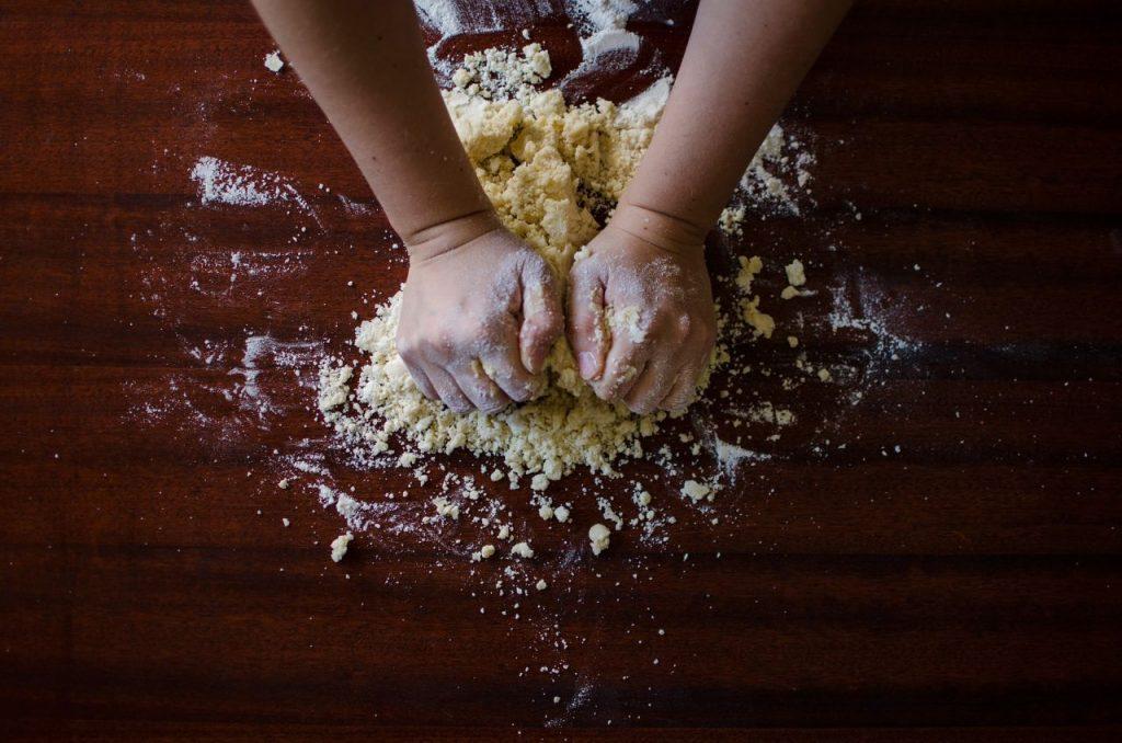 Bake off baking dough