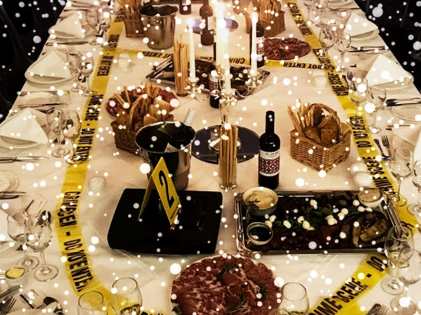 Right Angle Corporate Events - Crime and Dine at Christmas