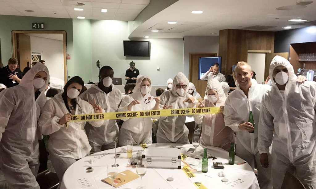 Top 4 Team Building Events for Autumn - Right Angle Corporate Events - Crime and Dine