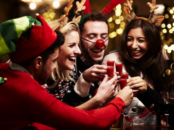 Right Angle Corporate Events - Jolly Jumpers at Christmas