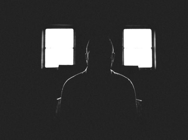 Man sitting in the dark