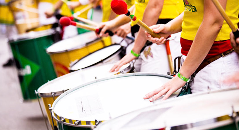 Top 40 Team Building Events in the UK - Samba Drumming - Right Angle Corporate Events