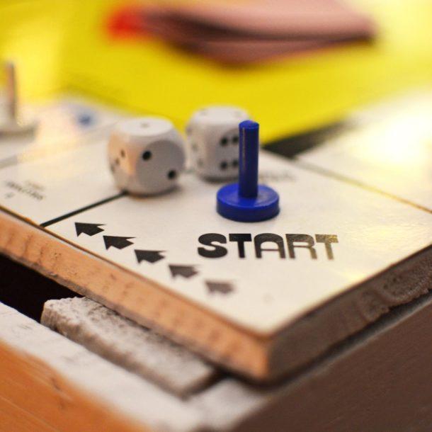 Start on a games board Challenge 100 Team Event