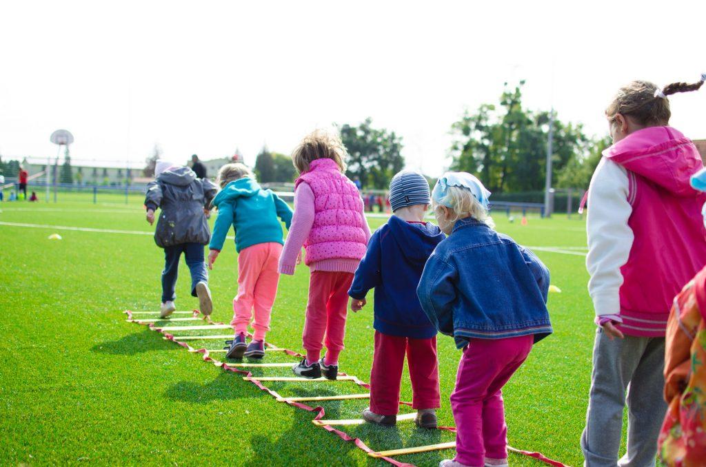 Kids plying outside
