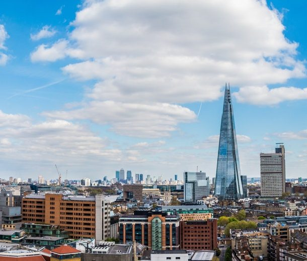 Looking over London's Skyline from the Rooftop