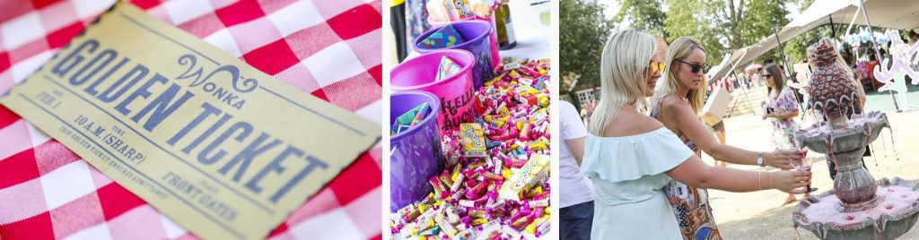 Candyland Christmas Party - Golden-ticket Sweets Drink-fountain