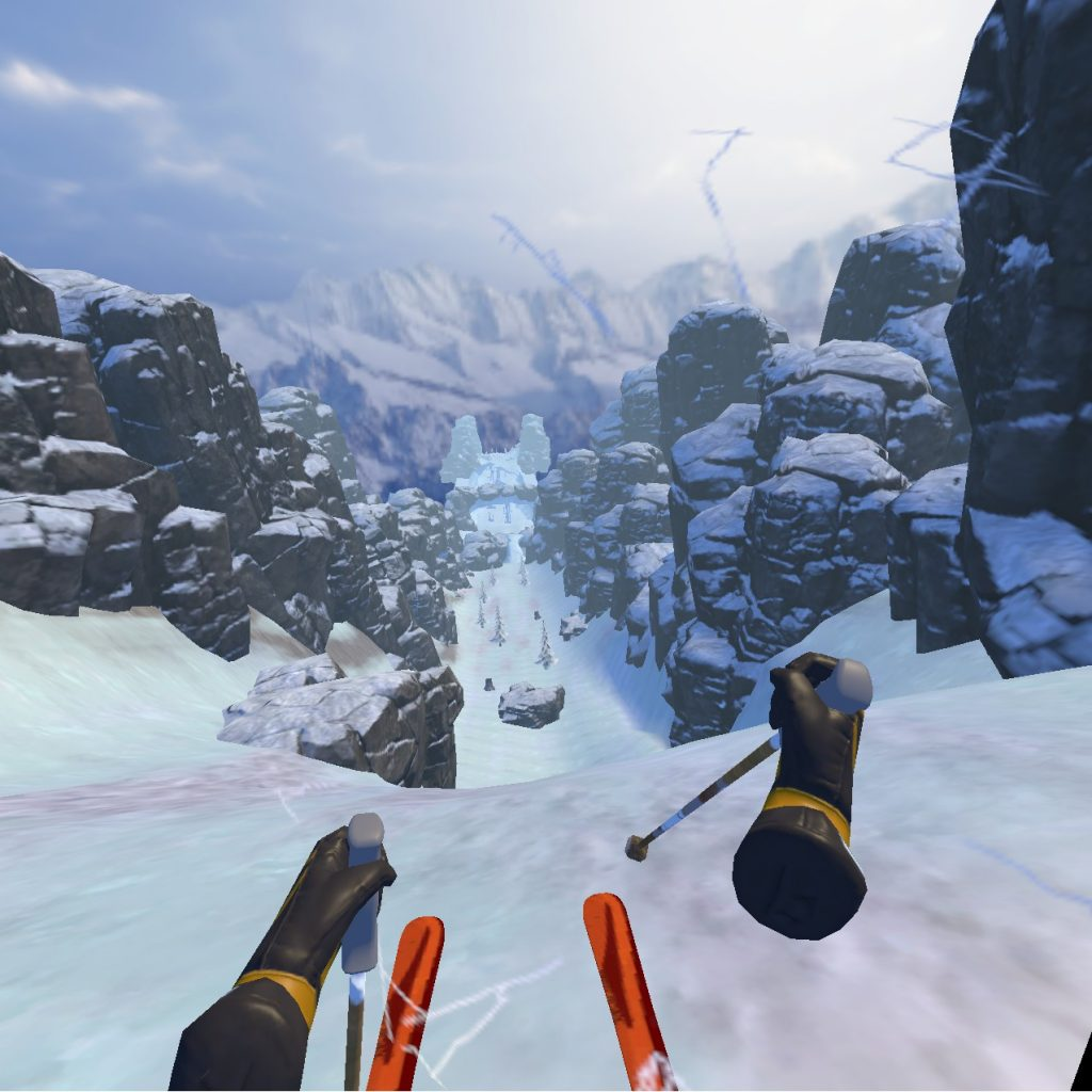 VR Team Building Downhill Skiing