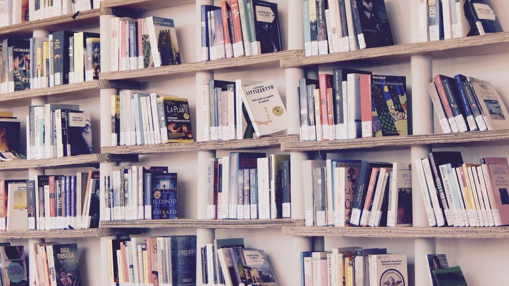 A liibrary of books