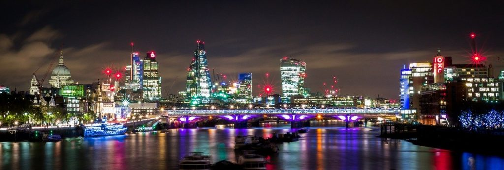 work christmas party london skyline